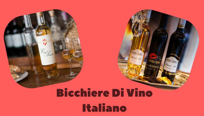 Bicchiere Di Vino Italiano