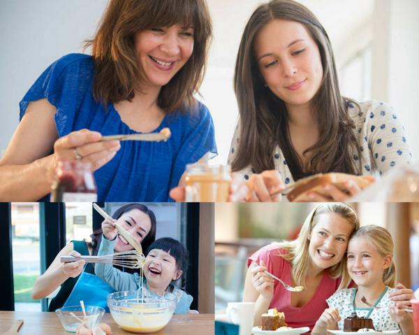 Unirsi Alla Mamma Per Fare Colazione Al Mattino