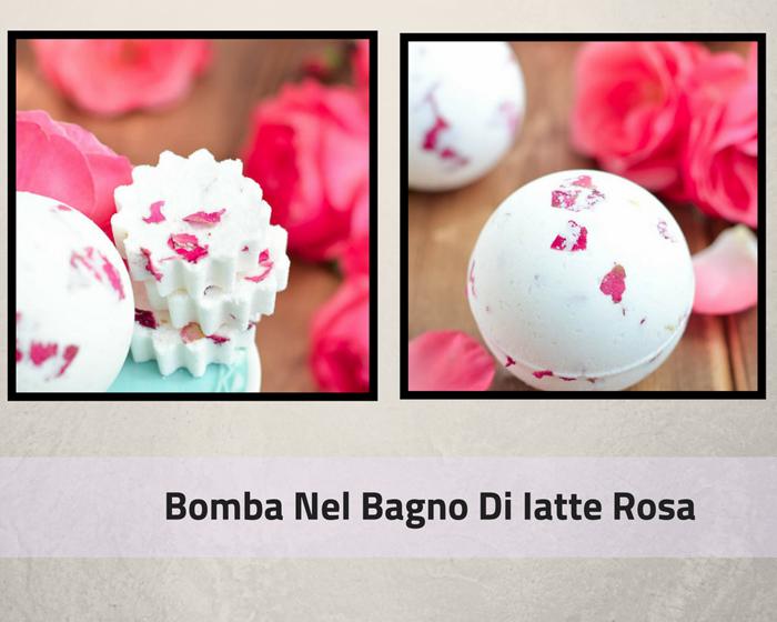 Bomba Nel Bagno Di Latte Rosa