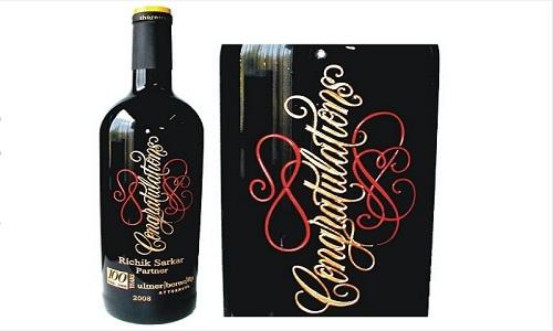 Nome coppia Vino rosso vintage personalizzato