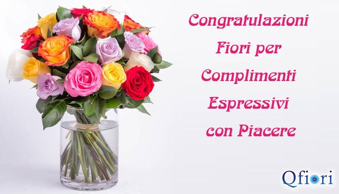 Congratulazioni Fiori per Complimenti Espressivi con Piacere