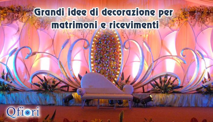 Grandi idee di decorazione per matrimoni e ricevimenti