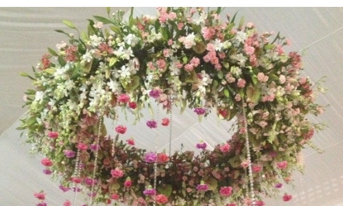 6. Hanging Flowers Arrangements –