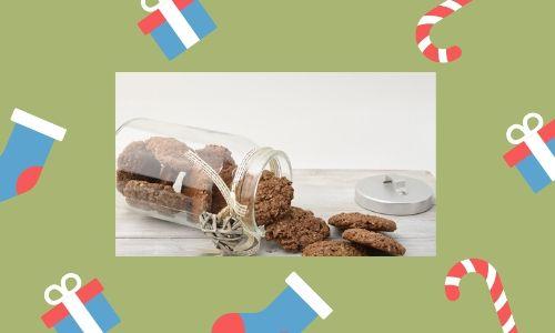 1. Barattoli di biscotti di Natale