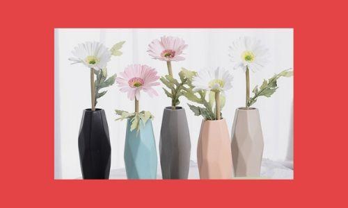 6. Vasi di fiori colorati