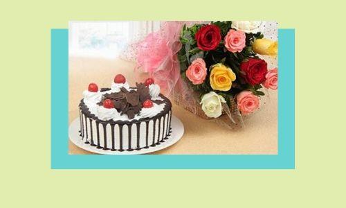 5. Regalo combinato fiore e torta