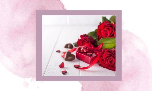 5. Rose colorate e cioccolatini