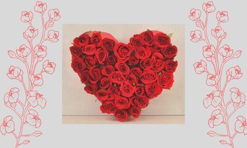 1. Bouquet di rose a forma di cuore
