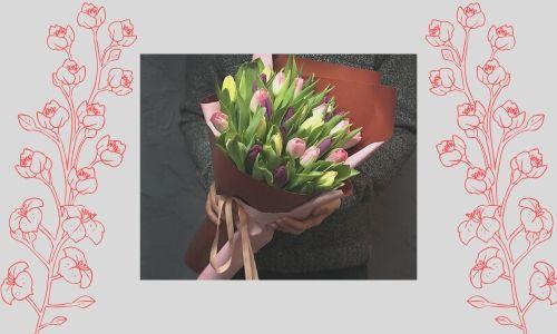 3. Bouquet di tulipani colorati