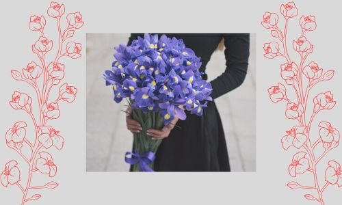 6. Il bouquet di iris blu