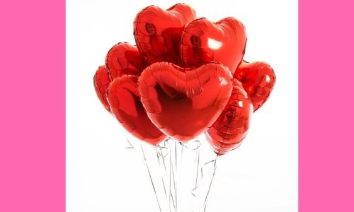 5) Palloncini a forma di cuore