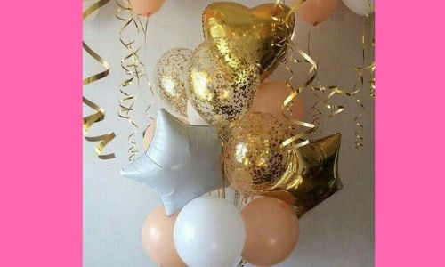 6) Palloncini pieni di glitter