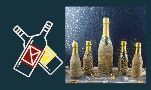1. Bottiglie glitterate