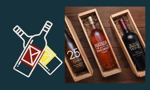 4. Bottiglie di vino incise