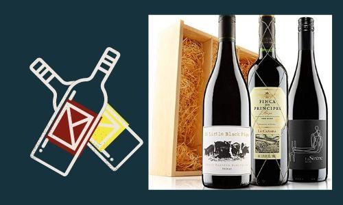 5. Confezione regalo Trio di vini rossi per vini da cantina