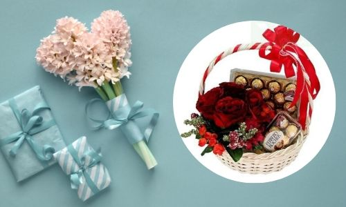 3. Rose rosa con torta