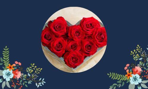 2. Bouquet a forma di cuore
