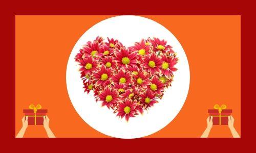 3. Fiore speciale a forma di cuore