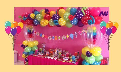 3) Palloncini pieni di caramelle e dolci