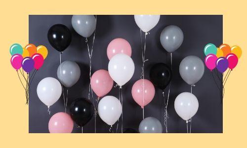 4) Attraente palloncini muro