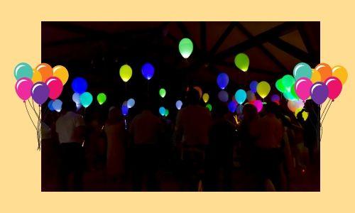 6) Bagliore nei palloncini scuri