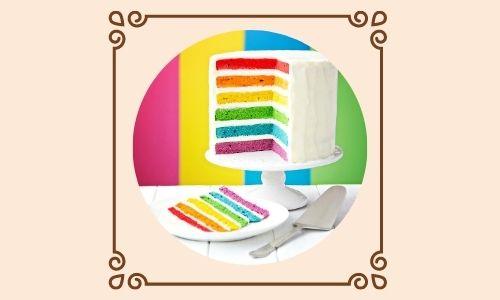 7. Torta a strati arcobaleno