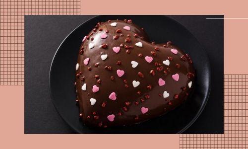 2. Torta al cioccolato a forma di cuore