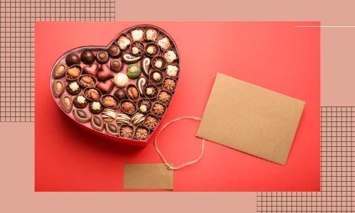 5. Scatola di cioccolatini con un messaggio