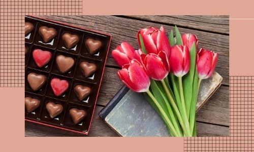 6. Scatola di cioccolatini con regalo combinato