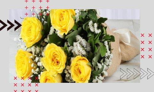 2) Bellissimi mazzi di fiori gialli