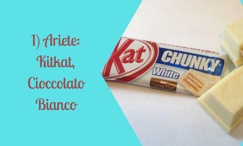 1) Ariete: Kitkat, Cioccolato Bianco