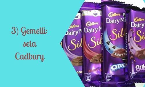 3) Gemelli: seta Cadbury