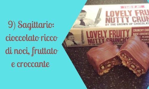9) Sagittario: cioccolato ricco di noci, fruttato e croccante