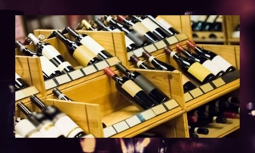 6. Portabottiglie per vino da cinque bottiglie