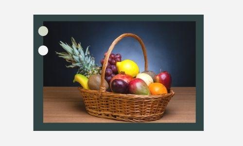 6. Cesto di frutta sano