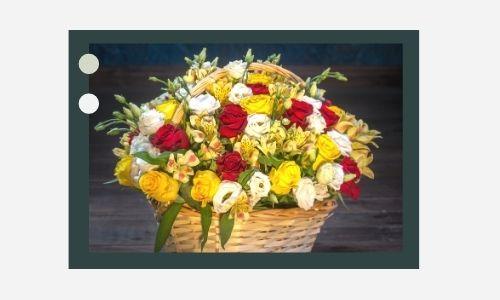 7. Splendido cesto di fiori