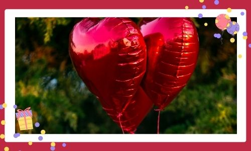 4. Palloncini a forma di cuore