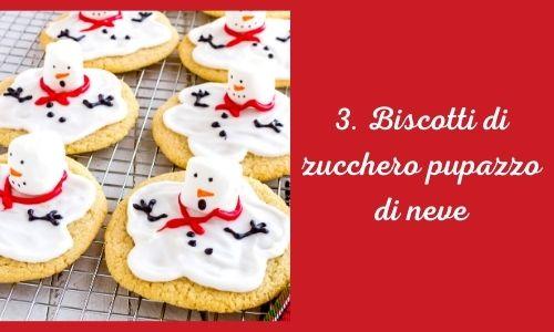 3. Biscotti di zucchero pupazzo di neve