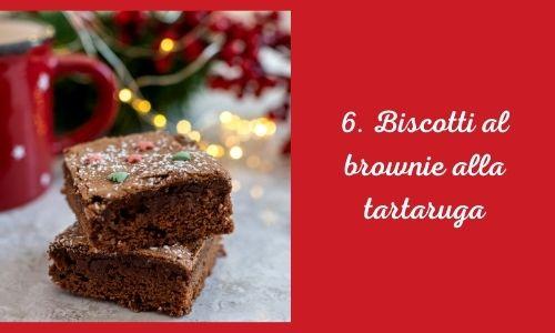 6. Biscotti al brownie alla tartaruga