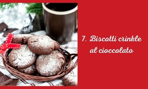 7. Biscotti crinkle al cioccolato