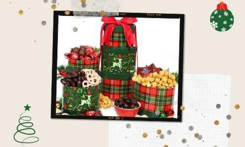 1. Torre del cesto regalo delle renne di Natale
