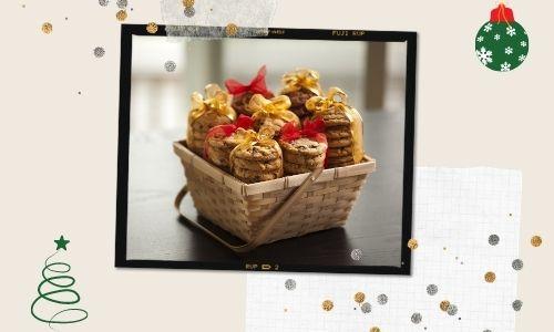 3. Cestino dei biscotti natalizi