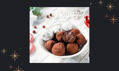 3) Tartufo al cioccolato con bastoncini di zucchero