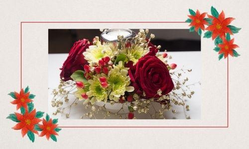 5. Rose di Natale per la decorazione della tavola