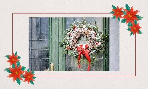 6. Ghirlanda floreale natalizia