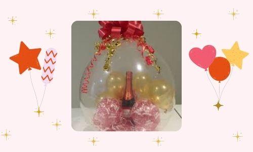 4. Palloncini pieni, candele e vino