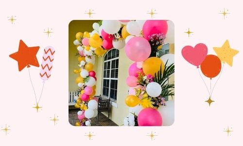 8. Arco di palloncini floreali