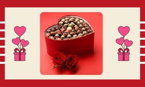 4) Scatola di cioccolatini a forma di cuore