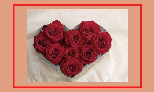 2. Bouquet di rose speciale a forma di cuore