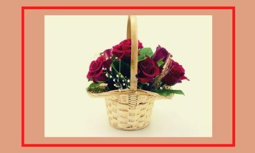 5. Incredibile cesto di rose
